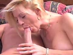 Horny mama sucking