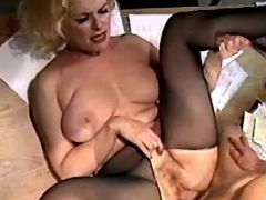 Chesty plump secretary gets cumload