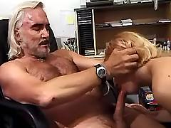 Secretary blowing boss
