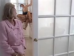 Oversexed mother observes son fucking with wife