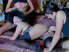 Lesbo take dildo lesson