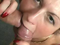 Dirty slut serves two men