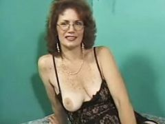 Milf in stockings drilled